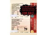 2 x Taylor Swift Reputation Stadium Tour Tickets