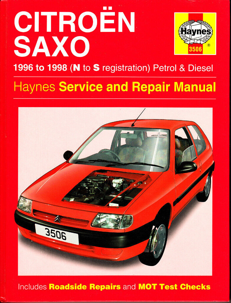 HAYNES CITROEN SAXO SERVICE & REPAIR MANUAL COVERS 1996 to 1998 PETROL &  DIESEL