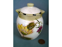 italian lidded sunflower jar