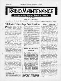 Vintage valve radio diagrams pre 1939