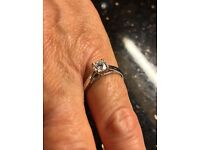 Platinum diamond solitaire ring. 0.51 carats DVS1.