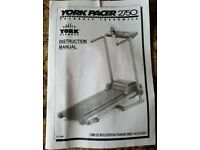 TREADMILL ELECTRIC FOLDING RUNNING WALKING YORK 2750 WITH INSTRUCTIONS