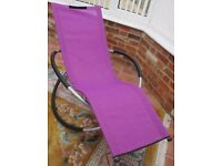 Sun Lounger Moon Rocker Purple Outdoor Garden Chair