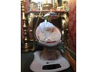 4moms Mamaroo Cradle/Bouncer/Rocker With 2 Sided Insert Grey/ Multi Coloured.