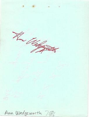 Ann Wedgeworth Signed 4X5 Cut Album Page Autograph Threes Company Actress