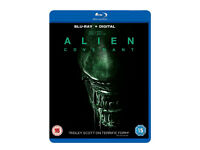 Alien Covenant [Blu Ray + Digital Download] 2017 as new