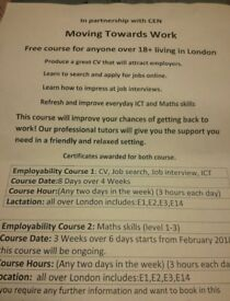 I have started a free course for anyone in London, You will receive a certificate.