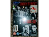 New sealed x3 DVD movie Boxset Green Street, I.D & Love Honour & Obey