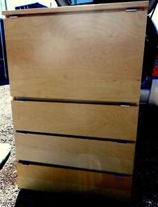 "31""x 20""x 49"" high / IKEA Storage & Desk Unit / 3 Drawer Dresser / Heavy wood Large / Oakville 905 510-8720"