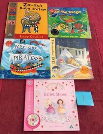Set of 5 Children's Story Books, DVD & CD Set