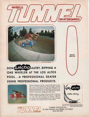 TUNNEL Reflective Skateboard Sticker Vintage NOS SURF /& SKATE 4in red si