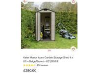 Keter Manor Apex shed / garden storage 4 x 6