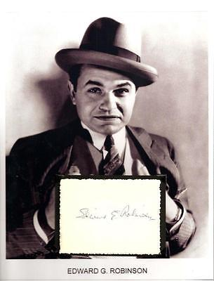 Edward G. Robinson Autograph Little Caesar Key Largo Soylent Green The Racket