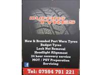 PART WORN TYRES EVERY TYRE £20