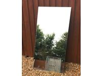 """Large Glass Mirror aprox 43"""" x 21"""" or 110cm by 55cm"""