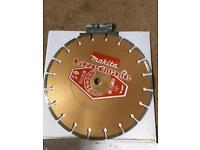 MAKITA dry cut stone/concrete diamond disc blade. 20mm bore 300mm overall