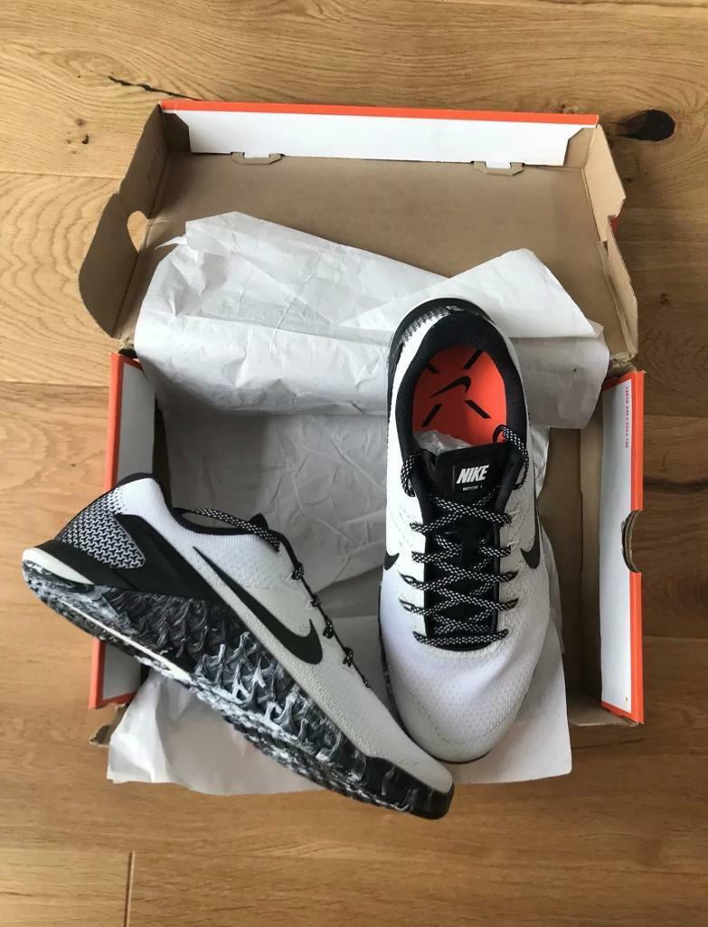71ab09f5eda109 Nike Metcon 4 Men's Training Shoes (UK SIZE  9.5) - White Black Sail Cross  (LIMITED EDITION)