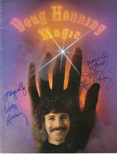 Magician Doug Henning & Wife Autographed Cover Of Program