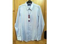 NEW Burton Mens Long Sleeve Stretch Skinny Fit Shirt - Medium - Blue