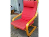 ikea poang arm chair. in good condition