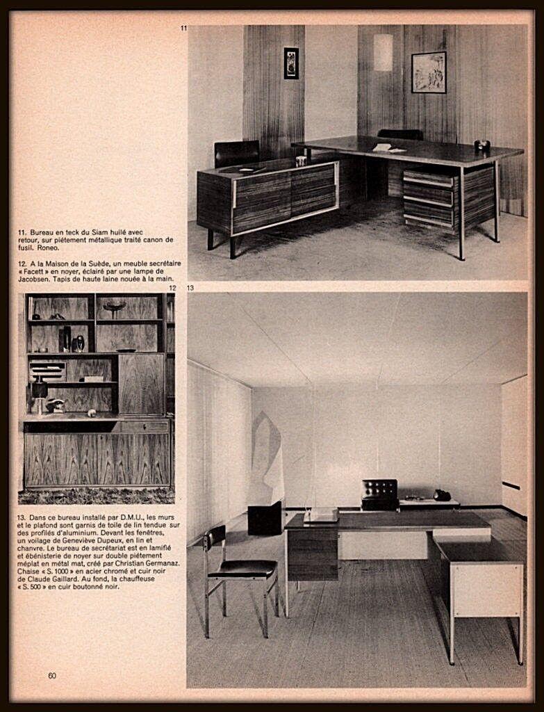 La Maison De La Suede details about 1965 a ad french furnishings office roneo siam facett  jacobson dmu germanaz