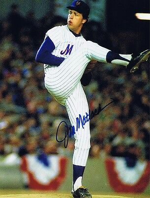 Jon Matlack Signed Autographed 8x10 Photo - W/COA NY Mets