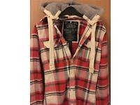 New Superdry check shirt jacket Size Small