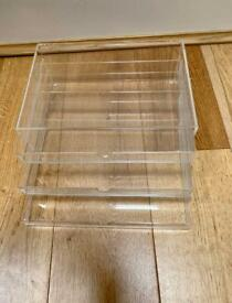 3 Drawer Cosmetic Organiser Makeup Jewellery Acrylic Storage Case Box Tray UK