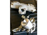 SU HS4 Carburettor plus matching Mitcham Motors inlet manifold. Originally from an A-Series engine.