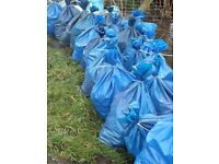 FREE HORSE MANURE rotted & bagged. Lifted off field. May contain flax bedding.