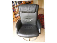 Faux Leather Reclining Armchair