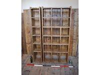 BOOKCASE reclaimed salvaged wood rustic pigeon-holes Brighton vintage industrial 1 + 3 cols gplanera