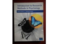 Introduction to Research Methods in Psychology, Text Book by Howitt & Cramer