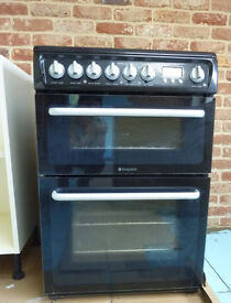 Hotpoint Hare60k electric cooker oven with ceramic hob with documentation