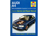 HAYNES AUDI A4 SERVICE REPAIR MANUAL 1995 - 2000 PETROL & DIESEL