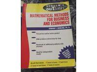 Schaum's Mathematical Methods for Business and Economics - £5 - collection only