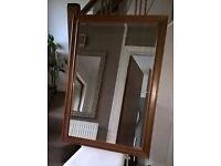 Beautiful wood framed mirror 73cmx105xm