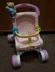 Fisher price first pram baby walker
