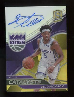 2018 Panini Spectra Catalysts Gold De'Aaron Fox 10/10 Auto Autograph