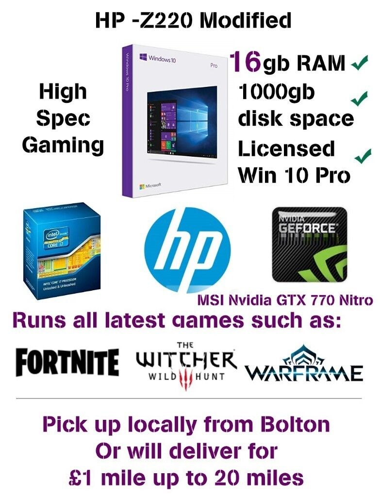 Complete Gaming System With Monitor - i7 4770k, 16GB RAM, Nvidia GTX