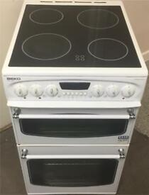 Beko 50cm white electric cooker can deliver