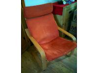 IKEA Poang rocking chair - beech/orange