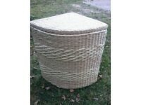 Wicker Corner laundry basket