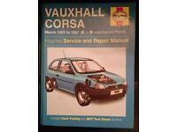 Haynes Vauxhall Corsa manual 93-97 (K-R)