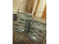 9 New Galvanised Lanterns for patio, garden or conservatory