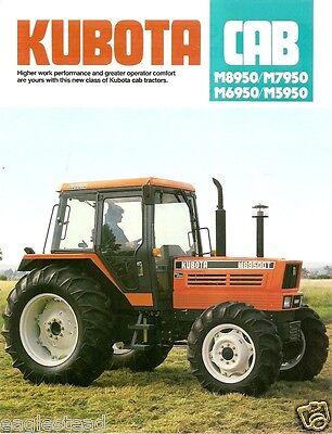 Farm Tractor Brochure - Kubota - M5950 M6950 M7950 M8950 Cab - 1989 Fb592