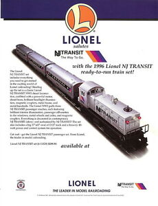 1996-LIONEL-TRAINS-NJ-TRANSIT-SET-6-11828-FLYER-MINT-CONDITION