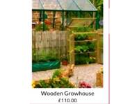 New boxed outdoor greenhouse perfect for decking or balcony