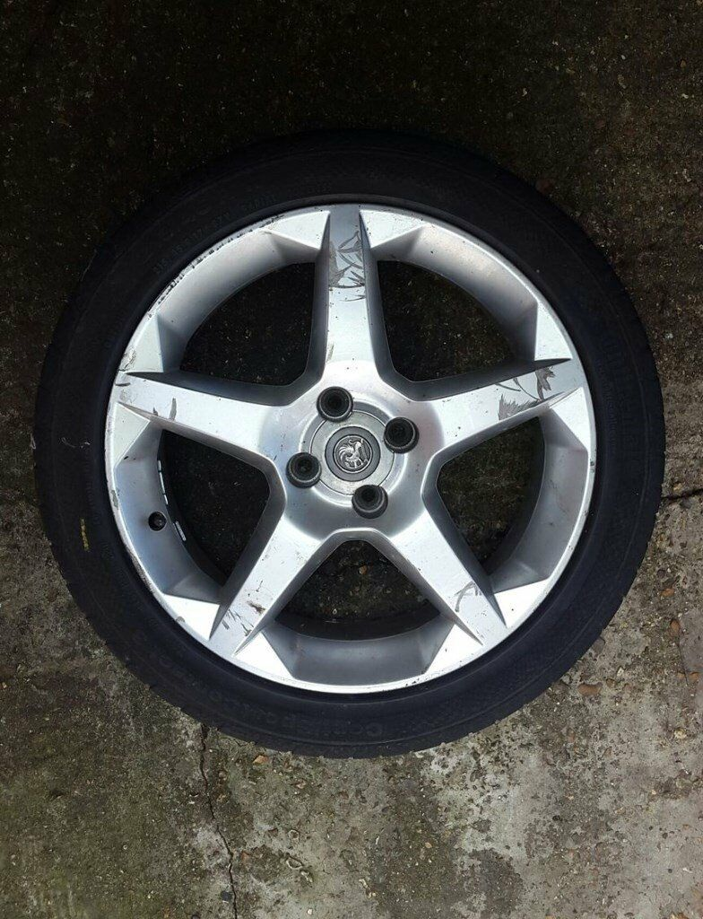* * * Vauxhall 17 inch Penta Alloy wheel & continental Tyre Tigra Astra Corsa * * * *
