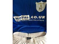 Blue Football Kit For Sale - 11 short sleeve shirts, 12 shorts, 10 pairs socks, ideal for youth team